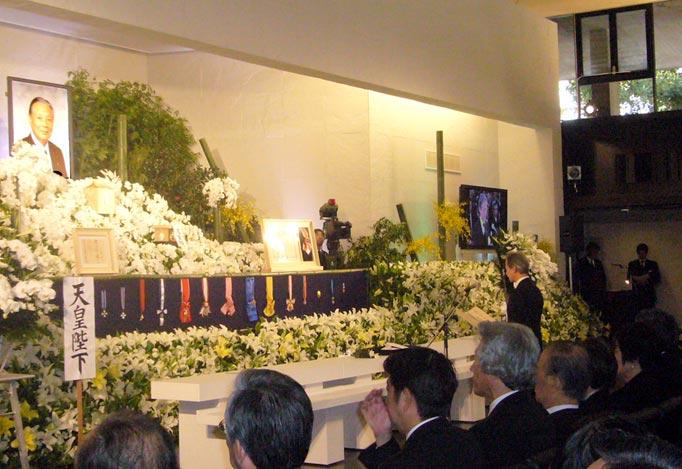 2008年12月12日 故土屋義彦元参議院議長合同葬 弔詞