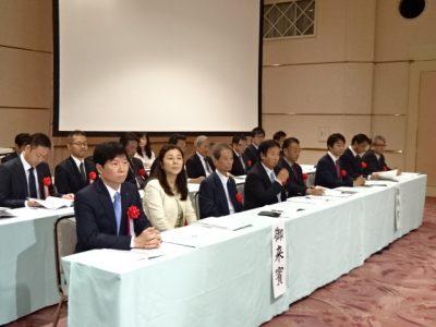 連合岡山の大会来賓席
