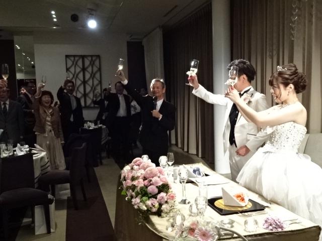 尾上君ら結婚に乾杯!