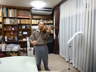 ヴァイオリンのお稽古