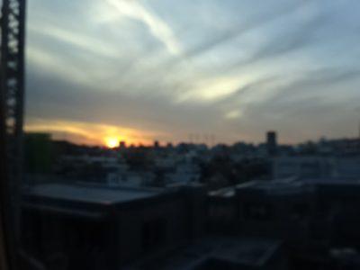 東京の日没