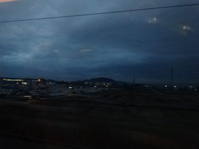 琵琶湖の雨
