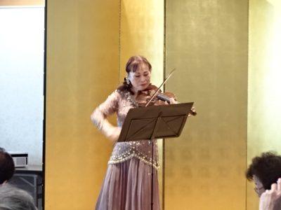 上月さんのヴァイオリン独奏